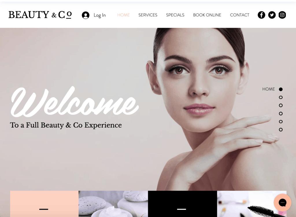 Hair salon website design ideas