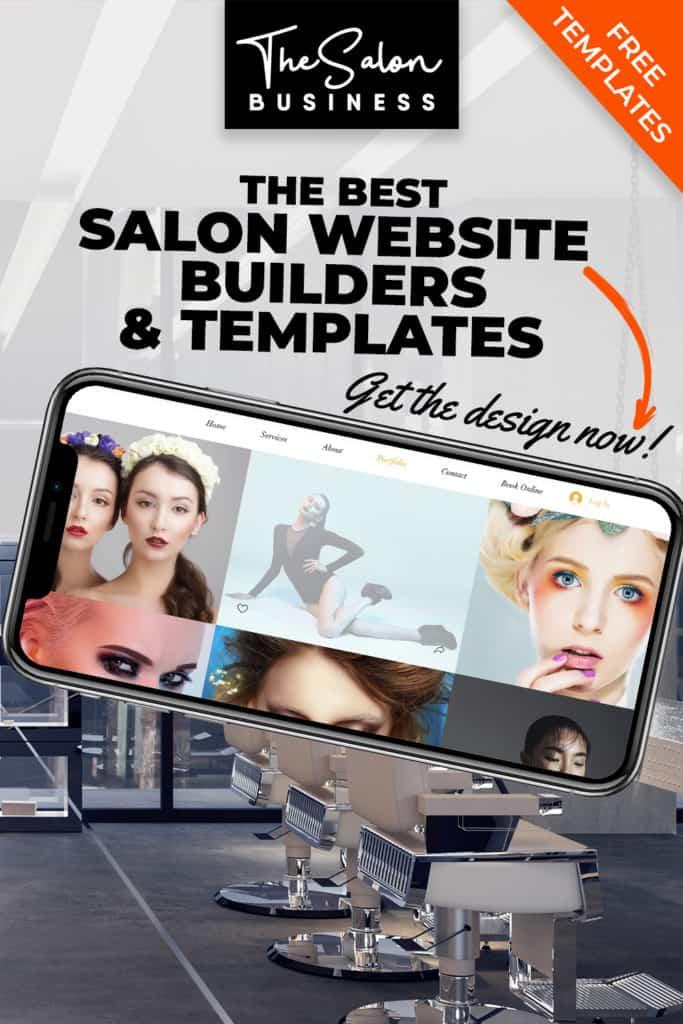 Hair salon website designs and beauty salon website designs.
